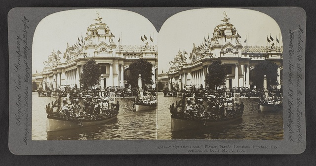 """Mysterious Asia"", Flower Parade, Louisiana Purchase Exposition, St. Louis, Mo., U.S.A."