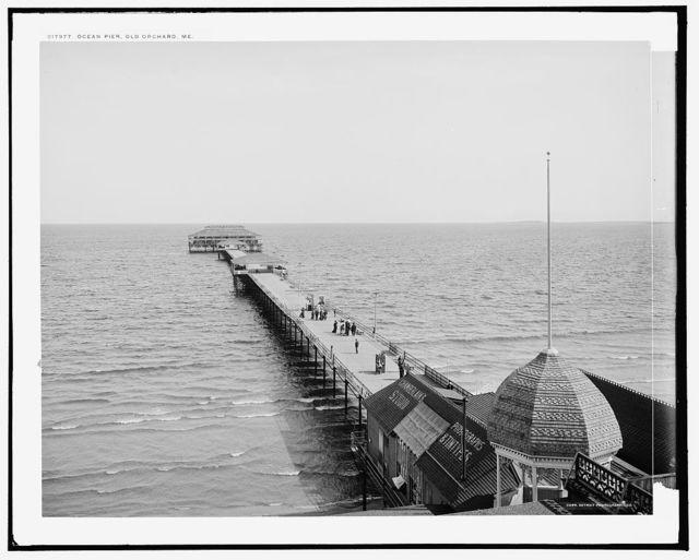 Ocean pier, Old Orchard, Me.