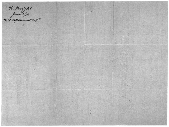 Octave Chanute Papers:  Special Correspondence--Wright Brothers, 1904