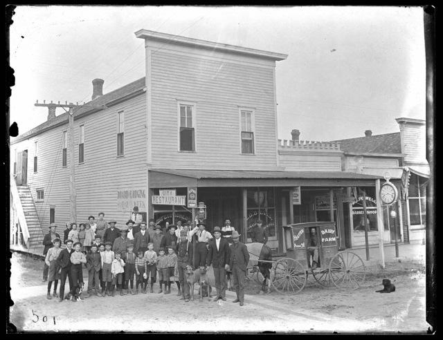 Oldest store building in Cozad, Nebraska, Dawson County, Nebraska.