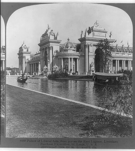 Palace of Liberal Arts, from across the east lagoon, Louisiana Purchase Exposition, St. Louis, U. S. A .