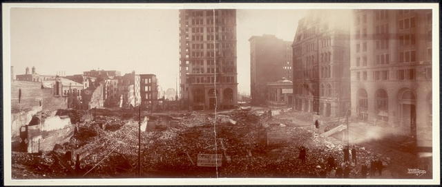 [Panoramic photograph of Baltimore fire]