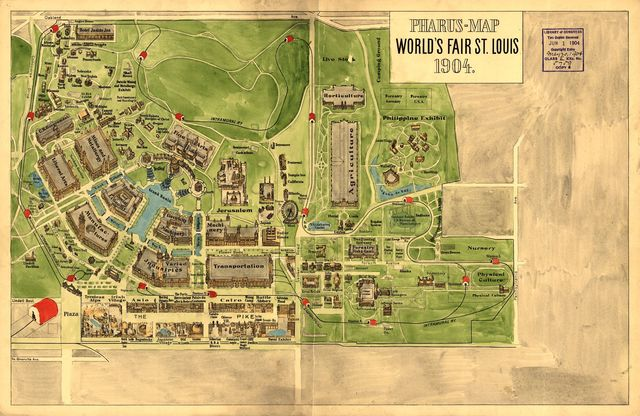 Pharus-map World's Fair St. Louis, 1904.