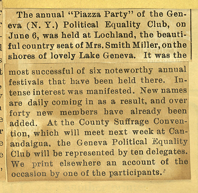 Piazza Party at Lochland, June 18, 1904