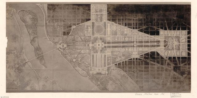 [Planning map of the Mall and adjacent areas, Washington D.C.].