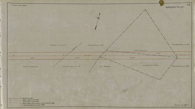 Plans showing deed and old location lines of the Western Railroad in the county of Worcester and state of Mass. /