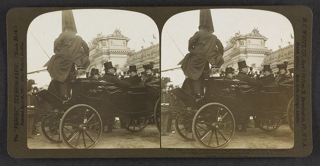 Pres. and Mrs. Roosevelt in carriage with Pres. Francis, Pres. Roosevelt's visit to the Louisiana Purchase Exposition, St. Louis, U. S. A.
