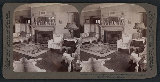 President Roosevelt's reception room at Sagamore Hill, Oyster Bay, N.Y.