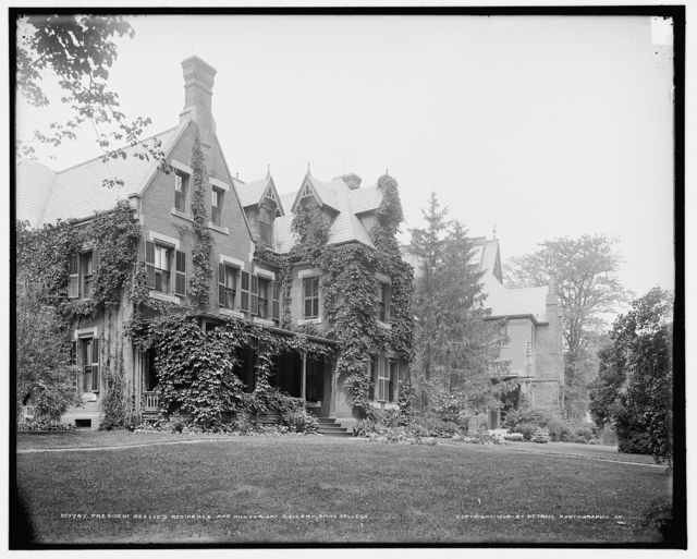 President's Seelye's residence and Hillyer Art Gallery, Smith College