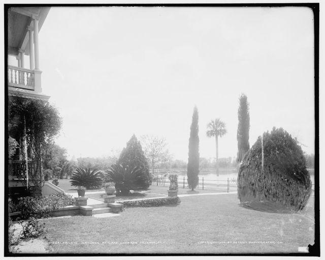 Private gardens at Lake Lucerne, Orlando, Fla.