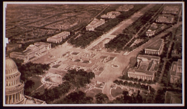 [Proposed plan for West Capitol grounds and mall]