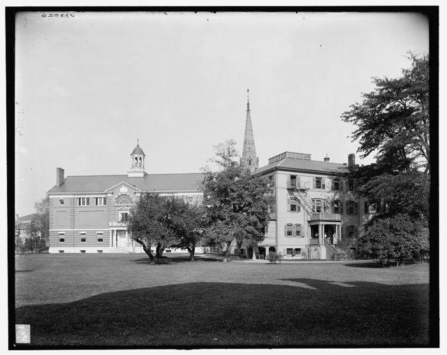 [Radcliffe College, gymnasium & Fay House, Cambridge, Mass.]