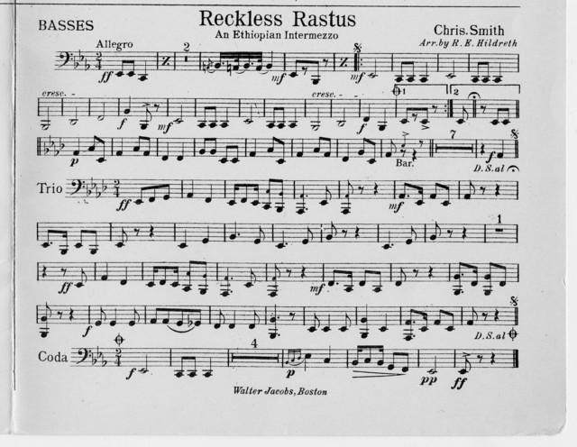 Reckless Rastus : An Ethiopian intermezzo