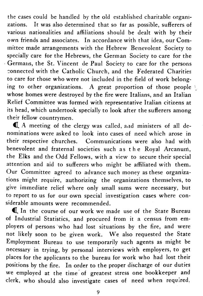 "Report of the ""Citizens' relief committee"" appointed after the great Baltimore fire, February 7 and 8, 1904."