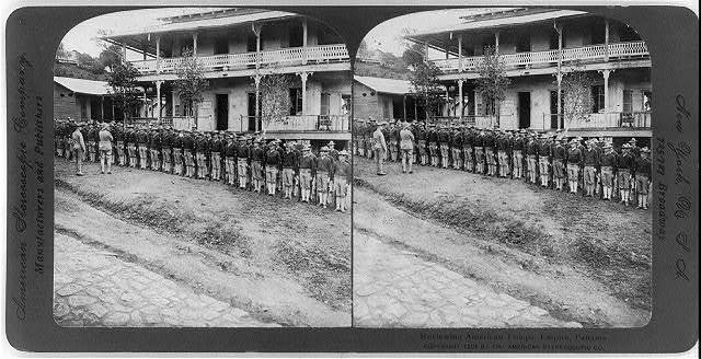 Reviewing American troops, Empire, Panama