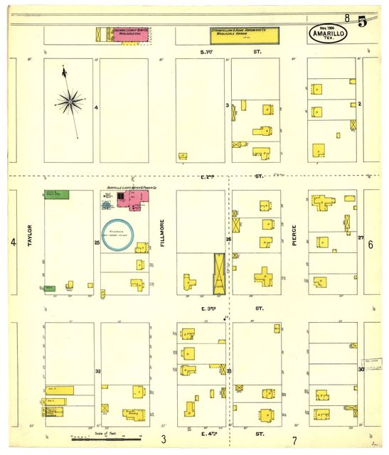 Sanborn Fire Insurance Map from Amarillo, Potter County, Texas.