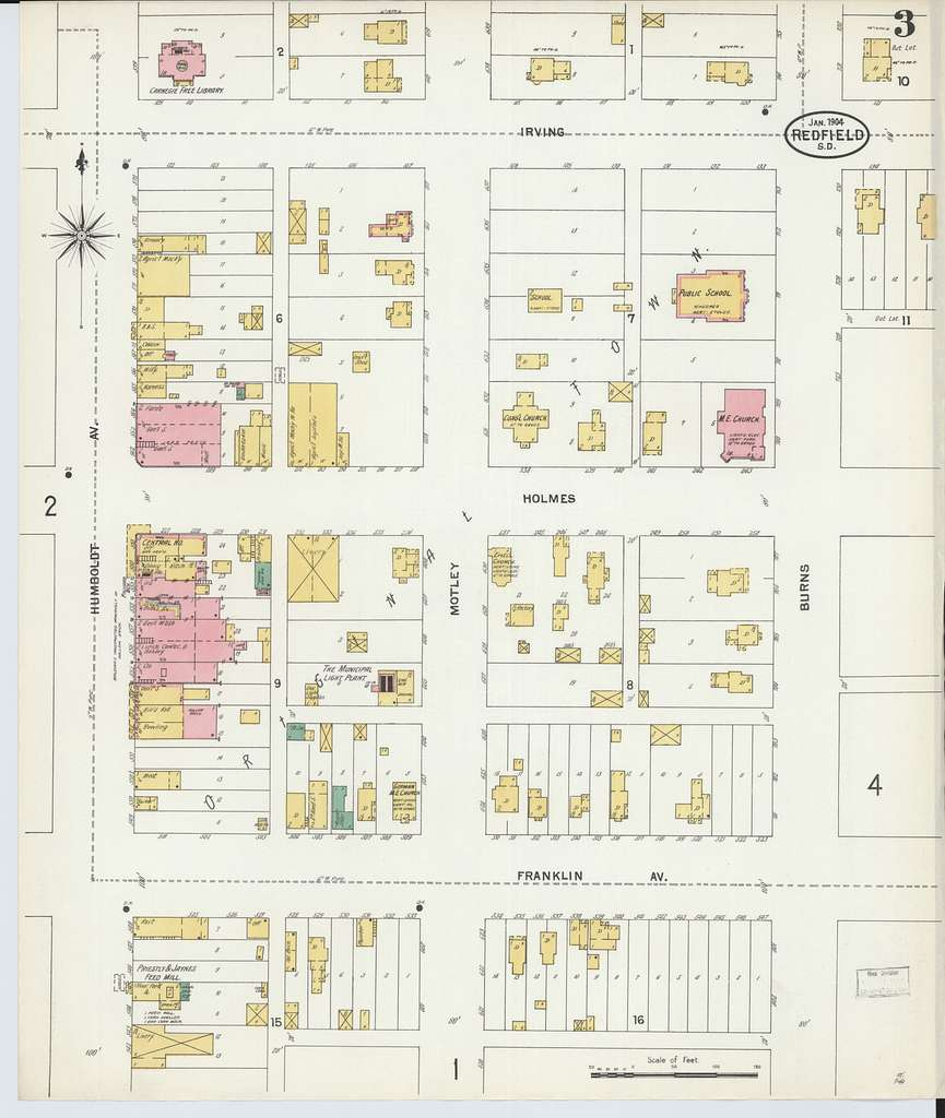 Sanborn Fire Insurance Map from Redfield, Spink County, South Dakota