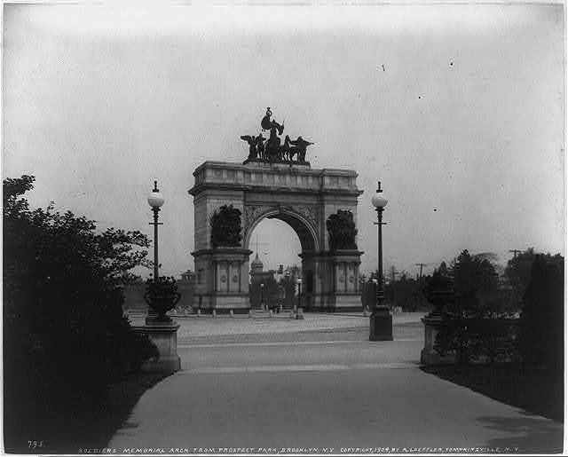 Soldiers Memorial Arch from Prospect Park, Brooklyn, N.Y.