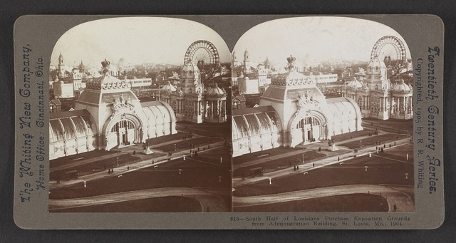 South half of Louisiana Purchase Exposition grounds from Administration Building, St. Louis, Mo., 1904.