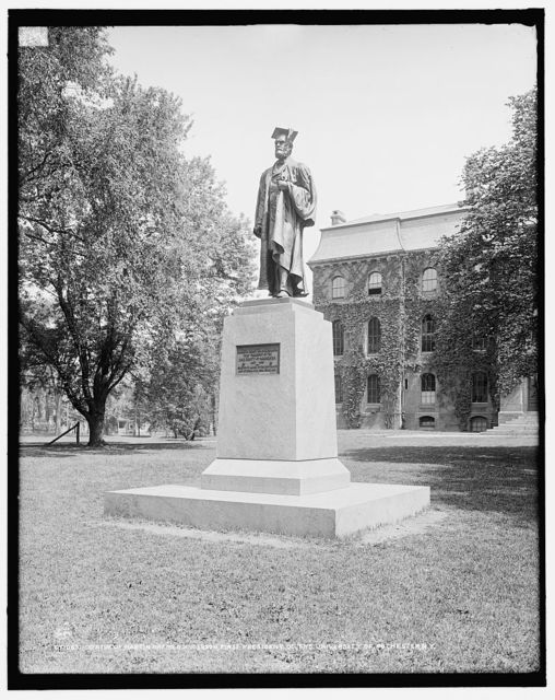 Statue of Martin Bremen [sic] Anderson, first president of the University of Rochester, N.Y.