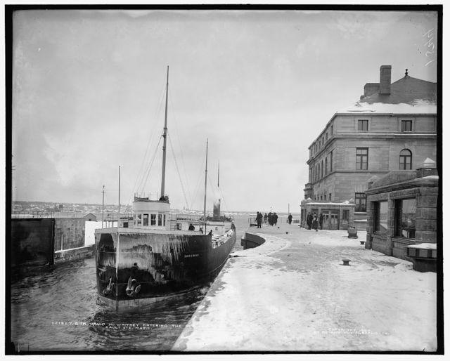 Str. David M. Whitney entering the Poe Lock, Sault Ste. Marie