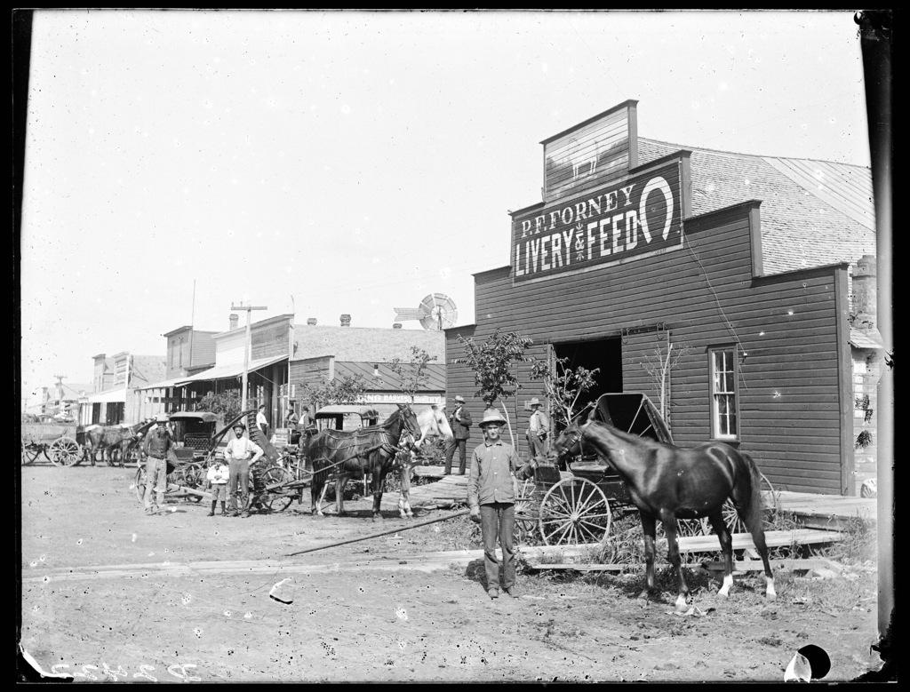 Street scene in Merna, Custer County, Nebraska
