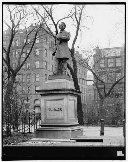 Sumner statue, Public Gardens, Boston, Mass.