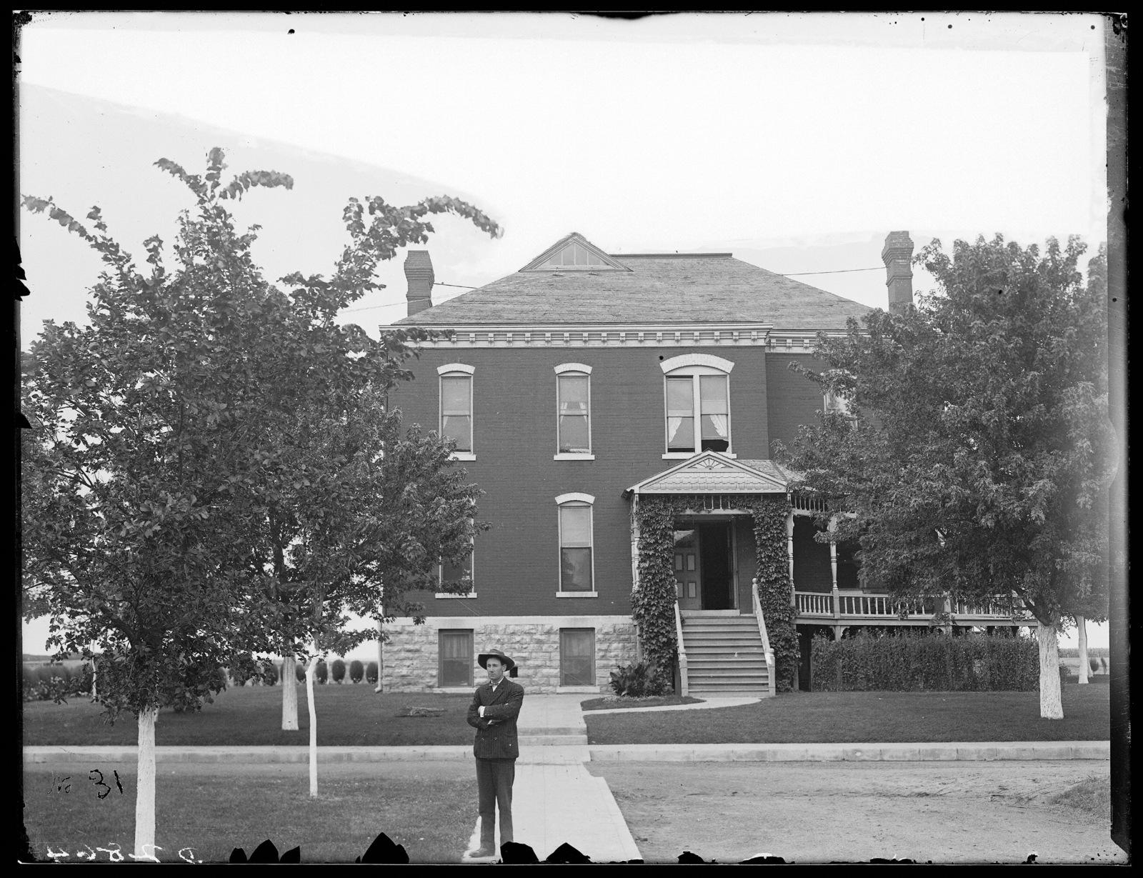 Superintendent Hayward at the State Industrial School for Boys, Kearney, Nebraska.