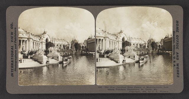The boat landing near Palace of Manufactures, Louisiana Purchase Exposition, St. Louis, Mo.