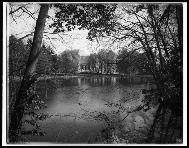 [The Chapel from across the lake, Vassar College, Poughkeepsie, N.Y.]