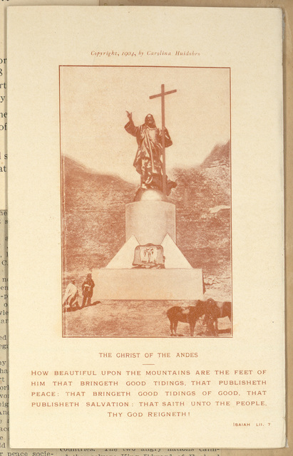 The Christ of the Andes-How beautiful Upon the Mountains