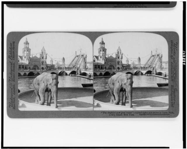 """""""The elephant now goes round""""--varied sights and shows at Luna Park, Coney Island, New York"""
