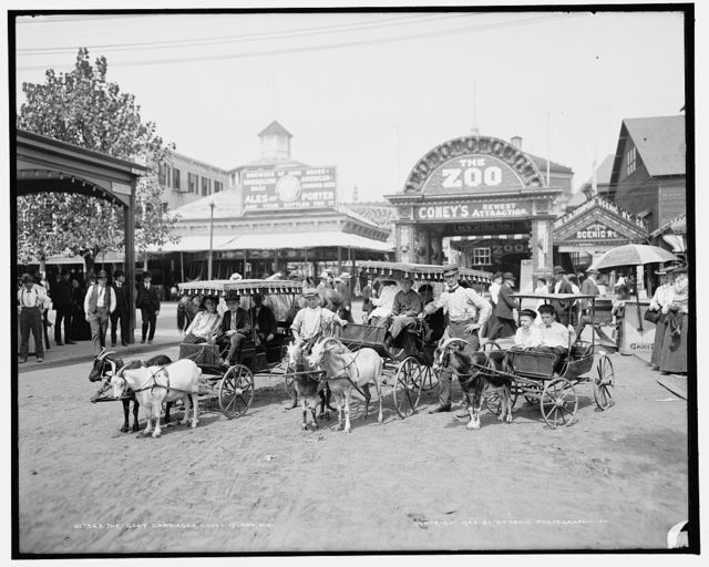 The Goat carriages, Coney Island, N.Y.