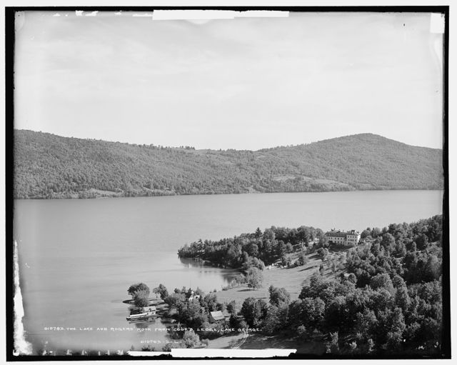 The Lake and Rogers' Rock from Cook's Ledge, Lake George