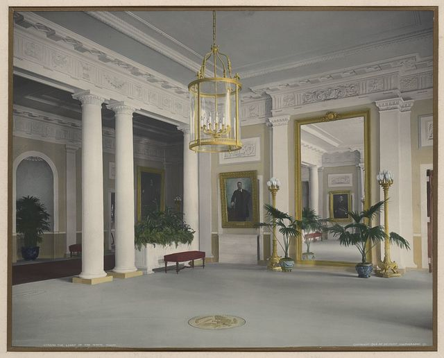 The lobby of the White House