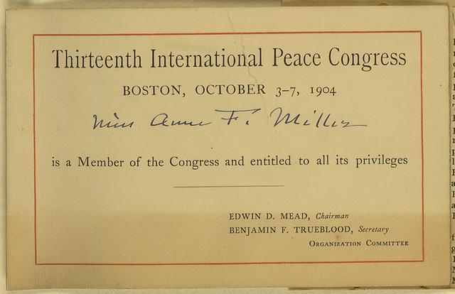 Thirteenth International Peace Congress
