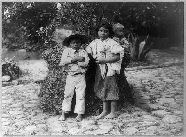 [Three Indian children, Guatemala]