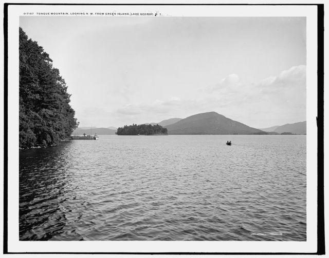 Tongue Mountain, looking n.w. from Green Island, Lake George, N.Y.