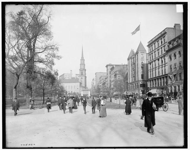 [Tremont Street, mall, Boston, Mass.]
