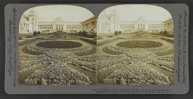 Triumph of the gardener - Sunken Gardens and Government Building, Louisiana Purchase Exposition, St. Louis, Mo., U. S. A.