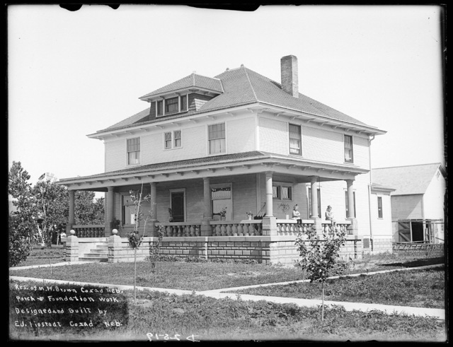 Two-story house owned by M.H. Brown, Cozad, Nebraska