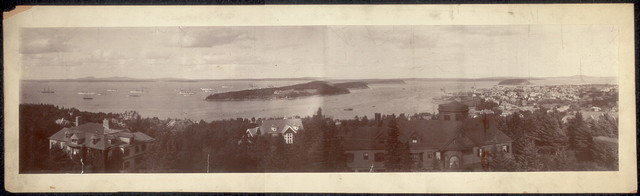 [United States war-ships at Bar Harbor]