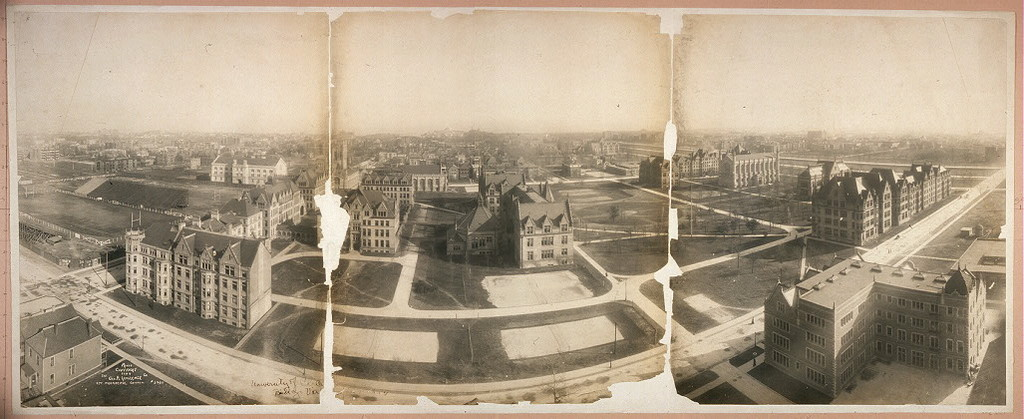 University of Chic[ago], bird's eye vie[w]