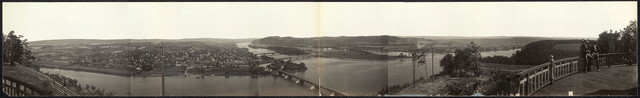 [View from Blue Hill showing Northumberland & Sunbury, Pa. at the junction of the north and west branches of the Susquehanna River]