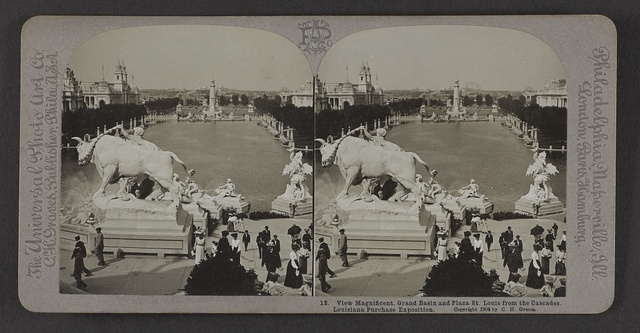 View magnificent, Grand Basin and Plaza St. Louis from the cascades, Louisiana Purchase Exposition.