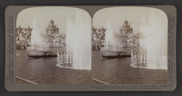 Where the fountains dance and play at the head of the Grand Basin, World's Fair, St. Louis, U. S. A.