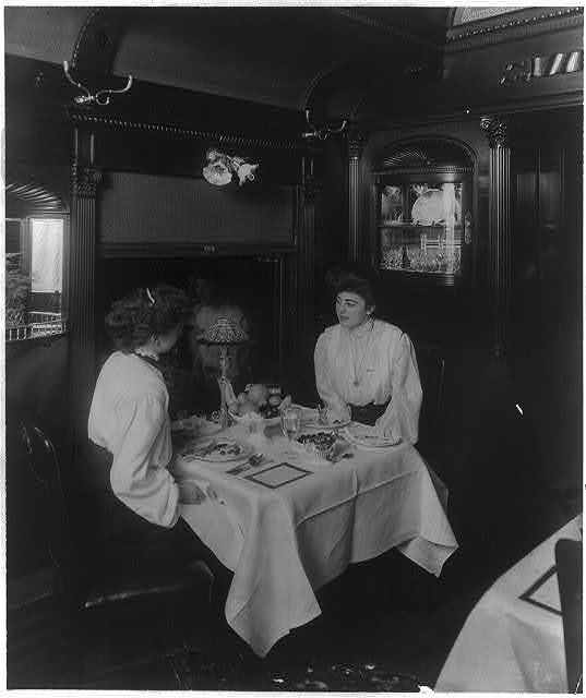 A corner of the Harvey dining car