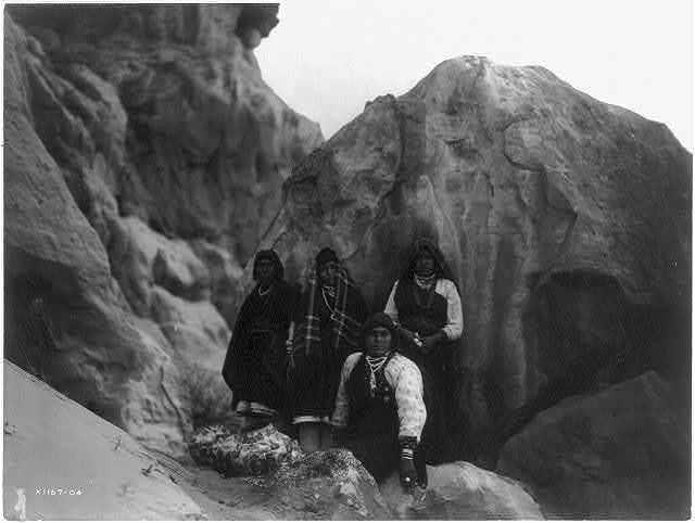 Among the rocks--Acoma