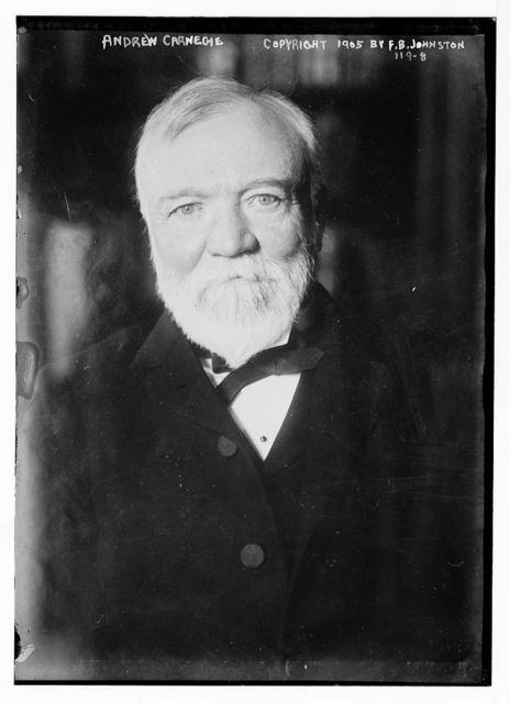 Andrew Carnegie, portrait, copyright by F.B. Johnston / F.B. Johnston