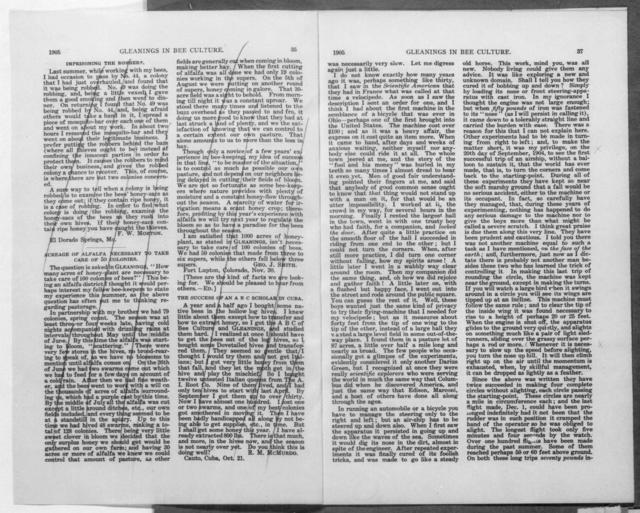[Article (untitled), A.I. Root, Gleanings In Bee Culture, 1 January 1905]